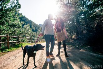 Tiffany and Chris in Eldorado Canyon