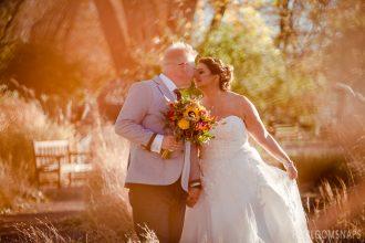 Outdoor Fall Wedding at Hudson Gardens
