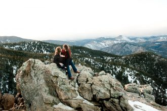 Winter Sunset; Avelynia and Tyler's Lost Gulch Engagement